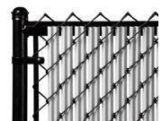 Chain Link Gray Single Wall Ridged Privacy Slat For 3ft High Fence Bottom Lock