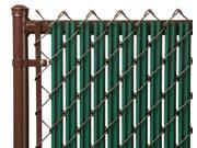 Chain Link Green Single Wall Ridged Privacy Slat For 5ft High Fence Bottom Lock
