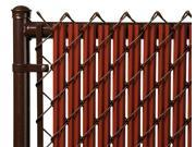 Chain Link Redwood Single Wall Ridged Privacy Slat For 6' High Fence Bottom Lock