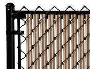 Chain Link Beige Single Wall Ridged Privacy Slat For 8ft High Fence Bottom Lock