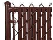 Chain Link Brown Single Wall Ridged™ Privacy Slat For 8ft High Fence Bottom Lock