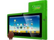Worryfree Gadgets 7DRK-Q-GREEN 7In 4Gb Android 4.4 Bt Dual Camera Wifi