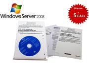Microsoft Windows Server Standard 2008 R2 SP1 64 bit License + 5 CALs - 10C4W