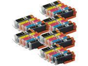 30 Pack inkinbox® Ink Cartridge Replacement For Canon PGI-250XL, CLI-251XL Inkjet Printer (6 x Black, 6 x Black, 6 x Cyan, 6 x Magenta, 6 x Yellow)