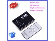 5 Port HDMI Switch Switcher HDMI Splitter Hub Box for PS3 Xbox 360 HDTV DVD with IR Wireless Remote