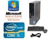 Dell Optiplex 990 USFF Windows 7 Professional 64 bit 2.5 GHz i5 (Quad Core) 4GB DDR3 250GB DVD-ROM