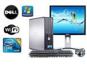 """Dell Optiplex 780 SFF Windows 7 Professional 64 Bit 3.0 Core 2 Duo 4GB DDR3 750 GB DVD-RW +  Dell 22"""" LCD + WiFi"""