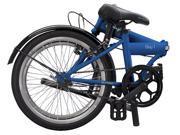 """Durban Bay 1, 20"""" wheels, folding Bike, single gear blue"""