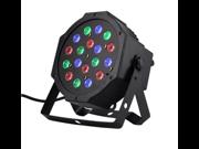18X3W LED PAR64 LED Flat Par Light RGB DMX Control Party Disco Xmas Bar DJ Stage Lighting 54W RGB LED flat parLight DMX stage lighting