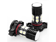 2x 6000K High Power Bright 5202 5201 2504 H16 9009 PSX9W CREE 5050 12 SMD LED Xenon White DRL Daytime Running Fog Light Lamp Bulb For Auto Car Vehicle SUV