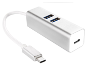 The New MacBook Type C USB 3.1 charge Hub,  High quality Ultra-thin Alloy Shell USB 3.1 Type-C male Multiple 3 Port USB 3.0 with Charge port Hub Adapter For the 9SIV0EU4SM4565