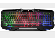 KG30 LED USB Gaming Keyboard with 7 Adjustable Colorful Backlights USB Wired LED Illuminated Rainbow Backlight Gaming Keyboard for PC 9SIV0EU4SM6193
