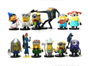 2015 New Despicable Me Minions Toys Ornament Christmas Gift Despicable Me doll Minion Decoration  Doll Toy Set of 12pcs 9SIV0EU4SM4080