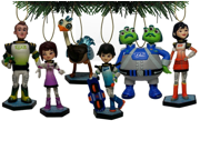 Disney MILES From Tomorrowland Christmas Tree 6 pcs Ornament Set Featuring Miles, Loretta, Phoebe, Leo, Merc, Watson and Crick, Ornaments Average 7-10cm Tall 9SIAAZM45N8848