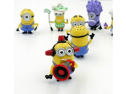 Despicable Me 2 The Minions Role Figure Display Toy PVC Set Yellow Despicable Me 2 minions Movie Character Figures hand to do toys Doll Toy 8pcs 9SIV0EU4SM3410