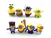 Despicable Me 2 The Minions Role Figure Display Toy PVC Set Yellow Despicable Me 2 minions Movie Character Figures hand to do toys Doll Toy 8pcs 9SIAAZM45P0390