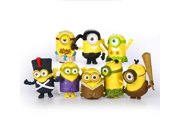 Despicable Me 3 The Minions Role Figure Display Toy PVC Set Yellow Despicable Me 3 minions Movie Character Figures hand to do toys Doll Toy 8pcs 9SIAAZM45N7509