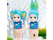 Angel Doll Artists Series  2pcs/set Kewpie Sonny Angel Baby Doll Set Toy,sonny Angel  Artist Collection Tropical Marine rabbit elephant Doll 9SIAAZM45N7503
