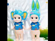 Angel Doll Artists Series  2pcs/set Kewpie Sonny Angel Baby Doll Set Toy,sonny Angel  Artist Collection Tropical Marine rabbit elephant Doll 9SIV0EU4SM5531