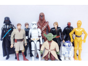 10pcs/set Star Wars Dolls Set series White soldiers Yoda Stormtrooper Darth Vader (Height of about 8-18cm) 9SIV0EU4SM5074