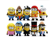 10pcs/set Despicable Me 2 The Minions Role Figure Display Toy PVC Set Yellow minions Movie Character Figures hand to do toys Doll Toy 9SIV0EU4SM4694