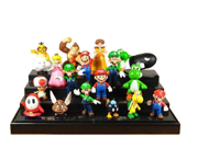Super Mario Bros Collectible PVC Action Figure Toys 18pcs/set Doll Kids Gift 18 Piece 3.5-6cm Super Mario Bros Yoshi Dinosaur Peach Toad new in sealed bag 9SIAAZM45N7256