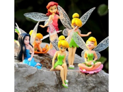 Disney Tinkerbell Figure Bell Tinker Fairies Figures Fairy Doll dolls Fairy Adorable tinkerbell Mini toy flower pretty doll 6pcs/set 9SIAAZM45N7197
