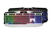 KG30 LED USB Gaming Keyboard with 7 Adjustable Colorful Backlights USB Wired LED Illuminated Rainbow Backlight Gaming Keyboard for PC 9SIV0EU4SM6085