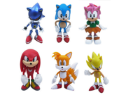 "6pcs Set Sonic the Hedgehog Amy Tails Mephiles the Dark Knuckles 6cm/2.4"""" PVC Figure Sonic the Hedgehog Action Figure Toy"" 9SIV0EU4SM6408"