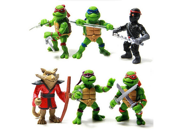 6 Pcs/Set Teenage Mutant Ninja Turtles Tmnt Action Figures Toy Set Classic Collection 9SIAAZM45N9469