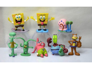 New 8 Pcs SpongeBob Squarepants Model PVC figures dolls Toys SpongeBob Figures Featuring Squidward, Sandy Cheeks, Patrick Star, Mr. Krabs... 9SIV0EU4SM5745