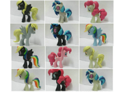 12PCS/Set My Little Pony Cake Toppers Doll Colourful 5cm PVC Action Figures Toy (black /white Collection) 9SIAAZM45N8796