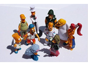 10pcs / set simpsons toy doll ornaments Featuring Homer Simpson, Bart Simpson,Groundskeeper Willie, Sideshow Mel etc.-(Figures Range from 5-9cm Tall) 9SIAAZM45N9281