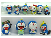 Anime Cartoon Doraemon Figure Doraemon PVC Action Figure Toys Dolls 6pcs set 9SIAAZM45N8374