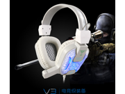 Hot Sale headphones V3 Full-Size Gaming Headset with Built-In USB Sound Card, 3.5mm USB Wired Stereo Gaming Headphone with Microphone Game PC Headset