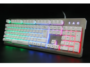 LANGTU K002 Mechanical Keyboard Waterproof Colorful  breathing lights 104keys Multicolors RGB Backlight Gaming Keyboard of Metal Panel USB Wired Switchable Backlight Colors