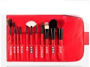 MSQ 11 PCS  Wool Makeup Brush Set  Cosmetic Makeup Tools Brushes (red) 9SIAAZM45N9148