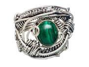 Ana Silver Co Malachite 925 Sterling Silver Ring Size 8.25