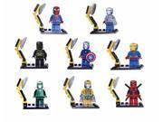 8Pcs Elephant Iron Man Figures Battle Dress Super Heroes Avengers Building Blocks MiniFigures Thor Bricks Toys Compatible With Lego