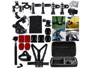 MCOCEAN 33-in-1 Accessories Set for GoPro Hero 4 3 Plus 3 2 and Camera: Telescoping Handheld Monopod Plus Chest Harness Plus Head, Wrist Strap Plus Suction Cup 9SIA9JN4H30148