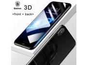 Haoztech 3D Round Curved Edge Screen Protector For iPhone X Cover Front+Back Tempered Glass Protective Film for iPhoneX Glass Film 9SIA9JN6K58293