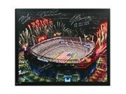 TOM BRADY, MONTANA, MANNING & BRADSHAW Multi Signed MetLife Canvas LE of 25 TriStar & Steiner Sports.