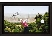"""TIGER WOODS Signed """"10th Tee Breaking Through"""" Framed Display UDA LE 250"""