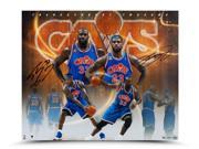 LEBRON JAMES & SHAQUILLE O'NEAL Dual Signed 20 x 24 Photograph LE of 50 UDA.