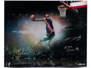 "LeBRON JAMES Hand Signed / Inscribed ""Flying"" 16 x 20 Photo UDA LE 25"