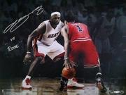 "LeBRON JAMES Signed ""Match-Up VS. Rose"" 16 x 20 Photograph LE 40/106 UDA."