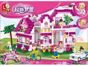 Sluban pink dream Villas del Sol puzzle assembling toys 9SIA9KG3R60424
