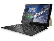 "Lenovo Miix 700-12ISK 2-IN-1 Core M5-6Y54 1.1GHz - 128GB SSD 8GB - 12"" (2160x1440) Touchscreen BT - Win10 Pro 2 Webcams Golden Black Folio"