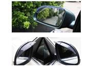 2 x Universal Rear View Side Mirror Rain Board Sun Visor Shade Shield For Car Truck SUV Transparent black
