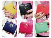 Hot Fashion Women's Mini Faux Leather Lady Purse Wallet Card Holders Handbag (Black) 9SIA9TE3US1682